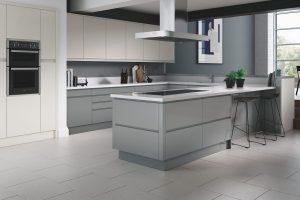 J-Groove handleless kitchen door style - Truman Kitchens